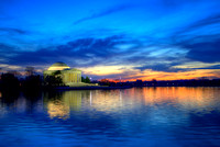 Sunset at the Jefferson Memorial