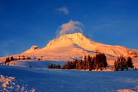 Mt Hood Winter Timberline Sunset