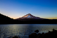 Sunset over Trillium Lake